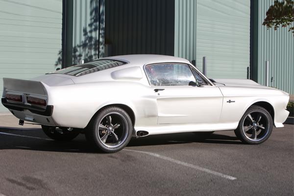 Satin White Mustang